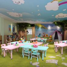 Набор для детского сада, стол и стул, Детский многофункциональный подъемный стол, Детские обучающие игрушки, пластиковый стол, игровой стол и стулья