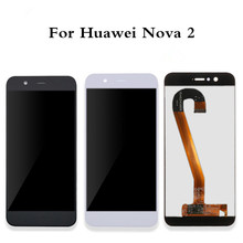 עבור Huawei נובה 2 LCD תצוגה + מגע מסך באיכות גבוהה 100% חדש Digitizer מסך זכוכית פנל עבור Huawei נובה 2 5.0 אינץ