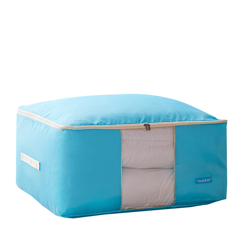 Home Quilt Storage Bags Oxford cloth Finishing box Dust cover lothing Bedding Blanket Wardrobe Clothes Storing Organization