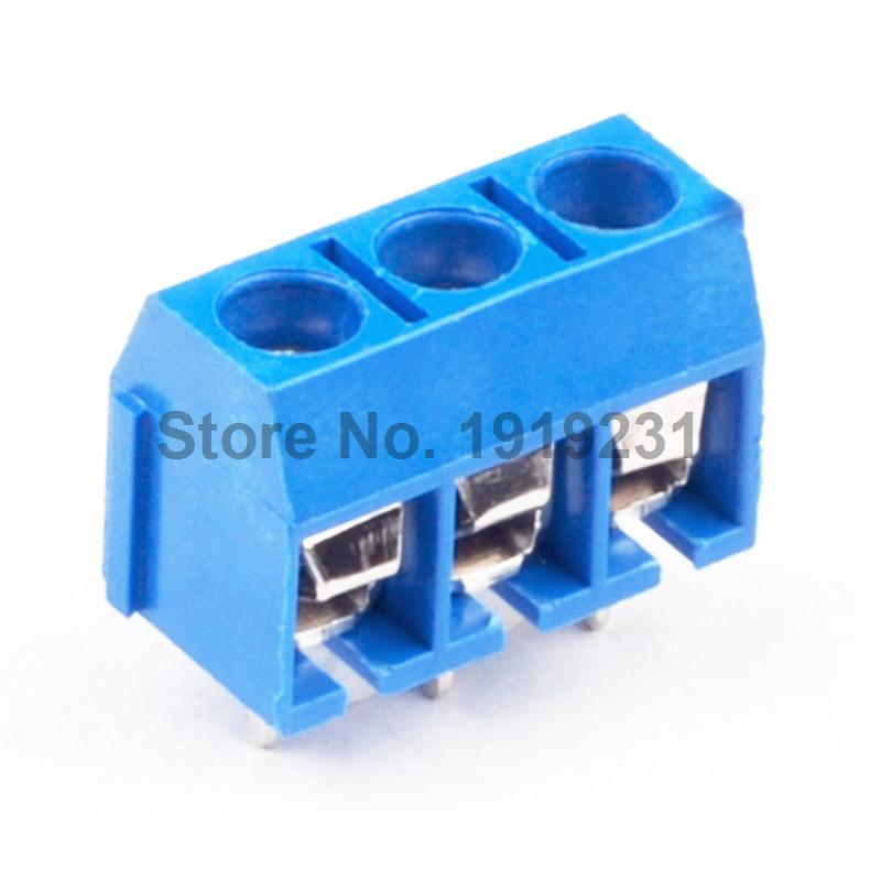 50PCS KF-301-3P 3 Pin Screw Terminal Block Connector 5.08mm Pitch ...