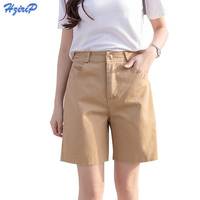 Hzirip 2017 Summer Women Hot Short Fashion Loose Cotton Wide Leg Shorts Candy Color Casual Shorts