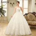 Real photo Embroidery Customized Cheap Discount Wedding Dress 2016 Fashion Bridal Gowns Sexy vestido de noiva WD2170
