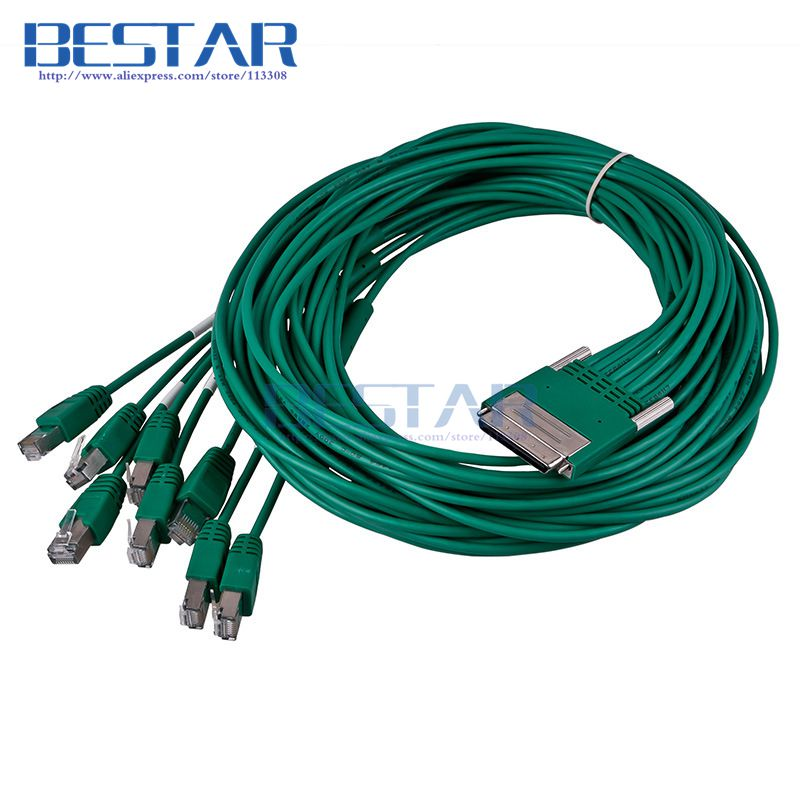 (50pieces/lot) CAB-HD8-ASYNC 68pin to 8 RJ45 Cable 3m 10ft 8port EIA-232 Async for Cisco HWIC-16A HWIC-8A Network Router Cables cab ss v35mt v 35 cable 3m 10ft network router cables for cisco wan interface card wic 2600 series wic 2t 2a s