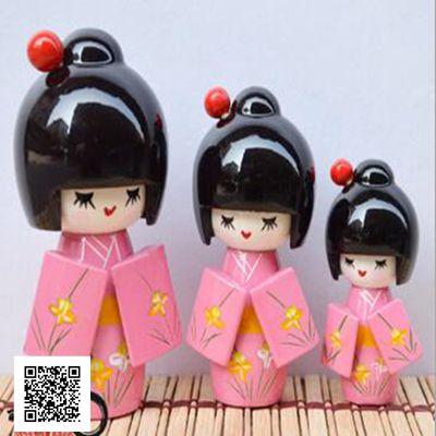 2017 New Cute Handmade Oriental Japanese Dark Red Kokeshi Girls Wooden Dolls 12cm japanese oriental om 4ik25gn sw