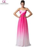 Grace Karin Dresses Blue Rose Chiffon Cheap Bridesmaid Dresses Under 50 Vintage Long Bridesmaids Dress Wedding Party Dress 6173