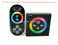 DC12 24V 2 4G RF Wireless 3 Channels Rgb Led Panel Touch Wall Controller With Remote