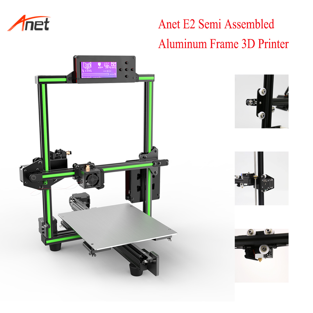 Anet E2 Pulley Guide Semi Assembled 3d Drucker Easy Control Low Noise Plus Size Build Volume
