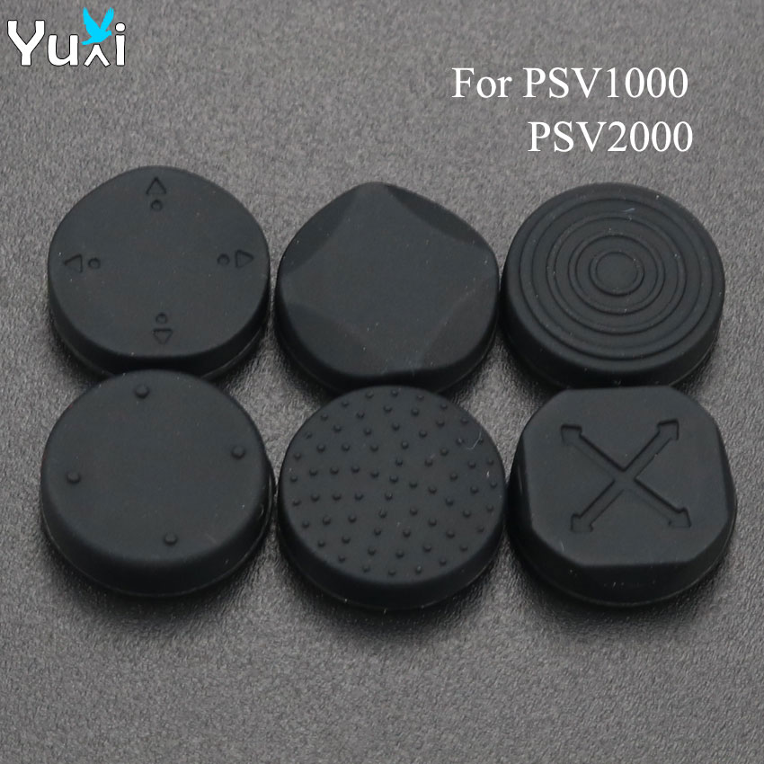 YuXi 6 in 1 Silicone Stick Grips Cap Analog Joystick Cover For <font><b>Sony</b></font> PlayStation <font><b>PS</b></font> <font><b>Vita</b></font> PSV <font><b>1000</b></font> 2000 Slim image