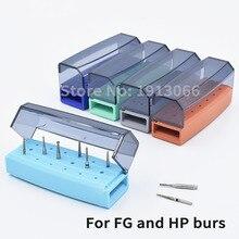 5Pcs Hoge Kwaliteit 18 Gaten Bur Houder Endo Box Voor Diamantboor Fg En Hp Autoclaaf Case Burs dental Desinfectie