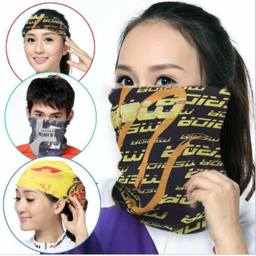 Fashion Multifunction Outdoor Seamless Magic Turban Scarf Women Ladies Mask