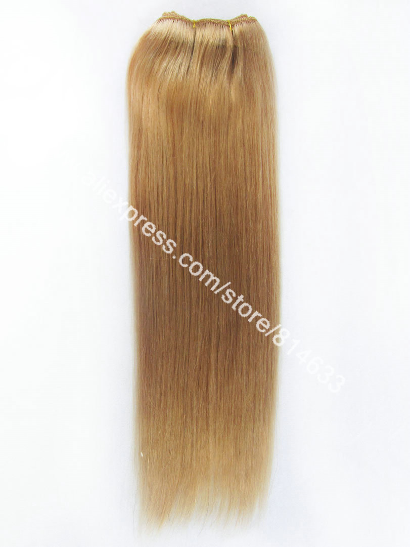 #8 Brown Silky Straight 100% Indian Remy Hair Machine Weft High Quality Weaving Virgin Human Hair Extension 3pcs/lot