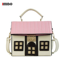 House Shaped Women PU Leather Handbags Women Casual Handbag Cartoon Shoulder Bag Crossbody Messenger Bag Ladies Bolsa Handbag цена в Москве и Питере