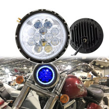 free shipping 7inch led headlight motorcycle headlamp black chrome 60W with halo for offroad 4x4 truck Wrangler JK CJ