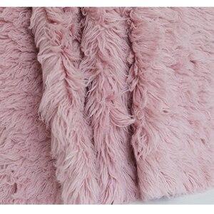 Image 4 - Sky Blue Shaggy Wool Fur Fluffy Baby Posing Fabric Fur Nebworn Cover Blanket Natural Curly Wool Backdrop Bean Bag Blanket Props