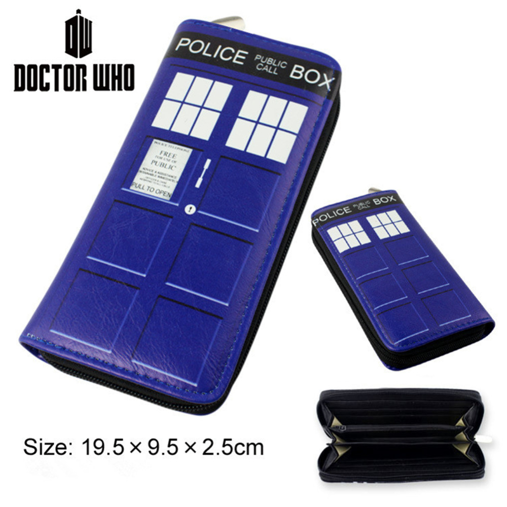 [NEWTALL] Science Fiction Drama Doctor Who TARDIS Pattern PU Leather Long Zipper Purse Wallet Card Holder Clutches T1208 long yongkang science and technology 48v12ah48v20ah60v20ah