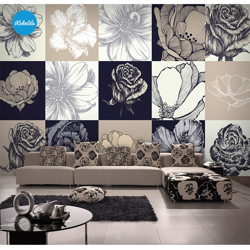 XCHELDA Custom 3D Wallpaper Design Stitching Pattern Photo Kitchen Bedroom Living Room Wall Murals Papel De Parede Para Quarto kalameng custom 3d wallpaper design street flower photo kitchen bedroom living room wall murals papel de parede para quarto