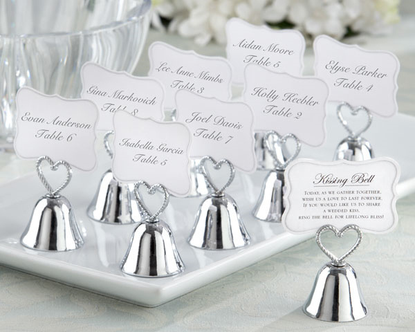 Free shipping 100pcs lot Kissing Bell Place Card Holder Lowest price