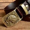 Орел Пряжки Мужские Ремни Люкс Мужская Ремень Из Натуральной Кожи Ковбой Ремень Ceinture Homme Cinturones Джинсы Мужские Ремни MBT0353-1