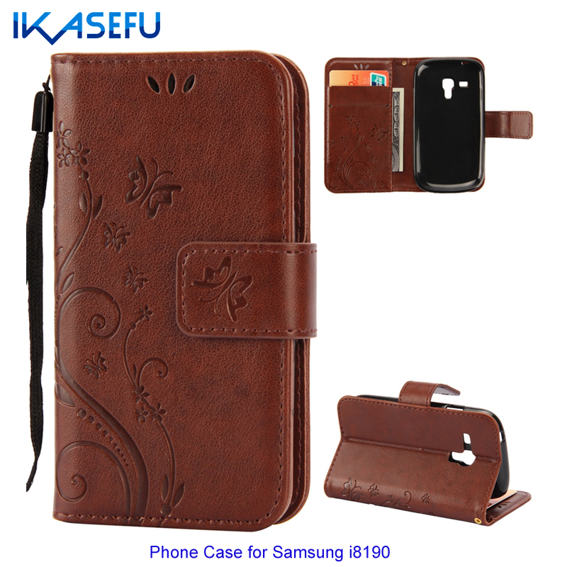 huge selection of f0adb 09000 US $4.24 |IKASEFU forCoque Samsung Galaxy S3 Mini i8190 Cases Flip Leather  Wallet Case for Fundas Samsung Galaxy S3 Mini Silicone Cover -in Wallet ...