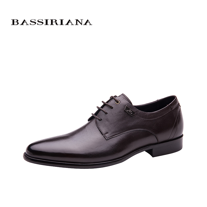 Shoes men Genuine leather Lace up Spring Autumn Black Brown 36 40 Russian size Free shipping