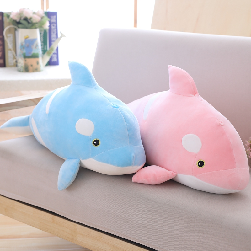 Large <font><b>Plush</b></font> Toy Stuffed <font><b>whale</b></font> <font><b>Killer</b></font> <font><b>Whale</b></font> <font><b>plush</b></font> Toy soft animal ocean sea stuffed Toys for Children Christmas Gift kids image