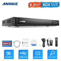 ANNKE 8CH 6MP POE NVR Network Video Recorder DVR For POE IP Camera P2P Cloud Function