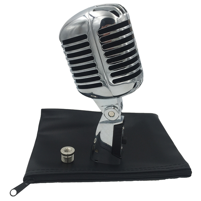 55SH Professional Retro Condenser Microphone Wired Dynamic Vocal Vintage Mic Microphone For Karaoke Singer Mikrofon Microfone