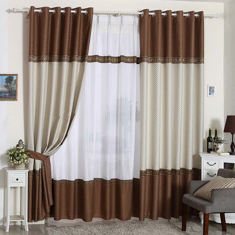 2015 Brown And White Curtain Curtains For The Bedroom