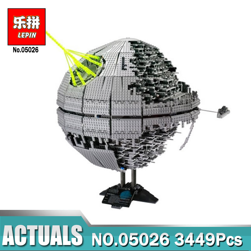 LEPIN 05026 Star Wars 3449pcs Death Star The Second Generation Model Lepin Building Block Bricks Toys Compatible Legoing 10143 lepin 22001 pirate ship imperial warships model building block briks toys gift 1717pcs compatible legoed 10210