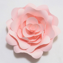DIY Artificial Large Paper Rose Flowers Backdrop 15-50cm Full Kits For Wedding & Event Nursery Decor Floral Wall Art Drop Ship