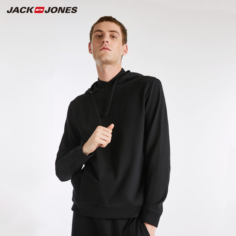 JackJones Men's Elastic Cotton Hoodie Sweatshirt Pajamas Homewear thin Fashion Menswear Male 2183HE506(China)