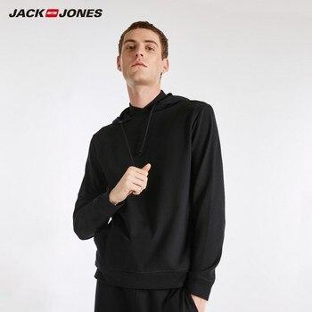 JackJones Men's Elastic Cotton Hoodie Long-sleeved T-shirt Tops Pajamas Homewear T shirt Fashion Menswear Male 218202501 Men T-Shirts
