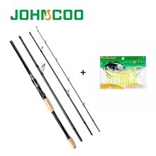 JOHNCOO Hot Selling Spinning Rod Combo 2.1m 2.4m 2.7m 3m Carbon Fishing Rod Travel Rod Set Medium Fast 10-25g Fishing Tackle