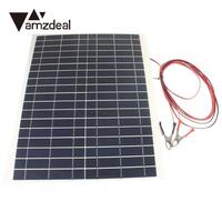 amzdeal 20W 12V Battery Charger High Efficiency Kit Diy Foldable Waterproof Solar Panel Camping Hiking Traveling Portable