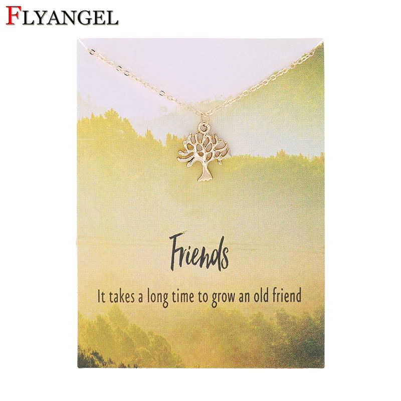 เครื่องประดับหรูหราเงินทองสีและจี้ต้นไม้แห่งชีวิตอัลลอยสำหรับผู้หญิงวันวาเลนไทน์ของขวัญ