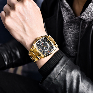 Image 5 - BENYAR Men Watch Business Golden Stainless Steel  Men Quartz Sports Watches Fashion Top Brand Creative Waterproof Wristwatches