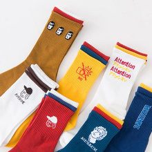 New Unisex 3 pairs socks Women Funny Colorful Cotton Socks Cartoon girl funny Letters printing Novelty Couple Gifts