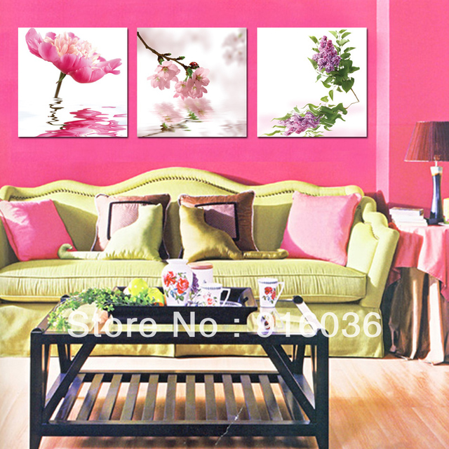 Free shipping 3 Piece Canvas Wall Art High Painting Home Furnishing ...