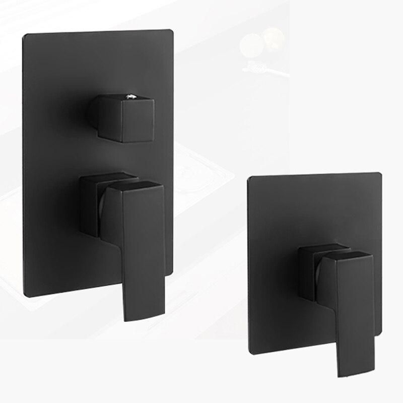 BAKALA poignée unique noir un deux trois fonction en laiton massif montage mural douche mélangeur vanne de contrôle robinet de douche BR9110B