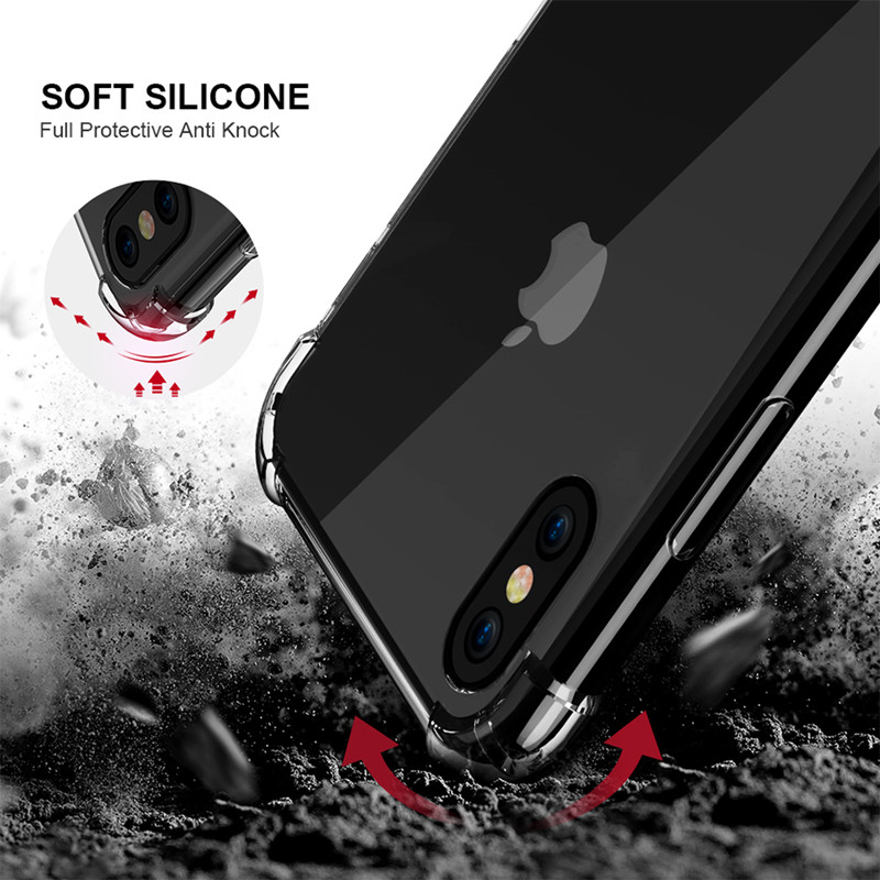 100 unids/lote Anti knock claro TPU funda para Huawei Honor 10i 20i Lite P Smart Plus 2019 disfrutar de 9 funda trasera suave a prueba de golpes S - 2
