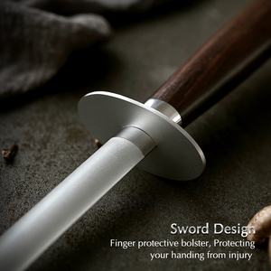 Image 4 - XINZUO Knife Sharpener Rod Kitchen Accessorie High Carbon Stainless Steel Sharpener Stick Knife Grinder Rosewood or Ebony Handle