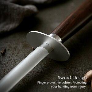 Image 4 - XINZUO ostrzałka do noży akcesoria kuchenne ostrzałka ze stali nierdzewnej o wysokiej zawartości węgla szlifierka do drewna palisander lub hebanowy uchwyt