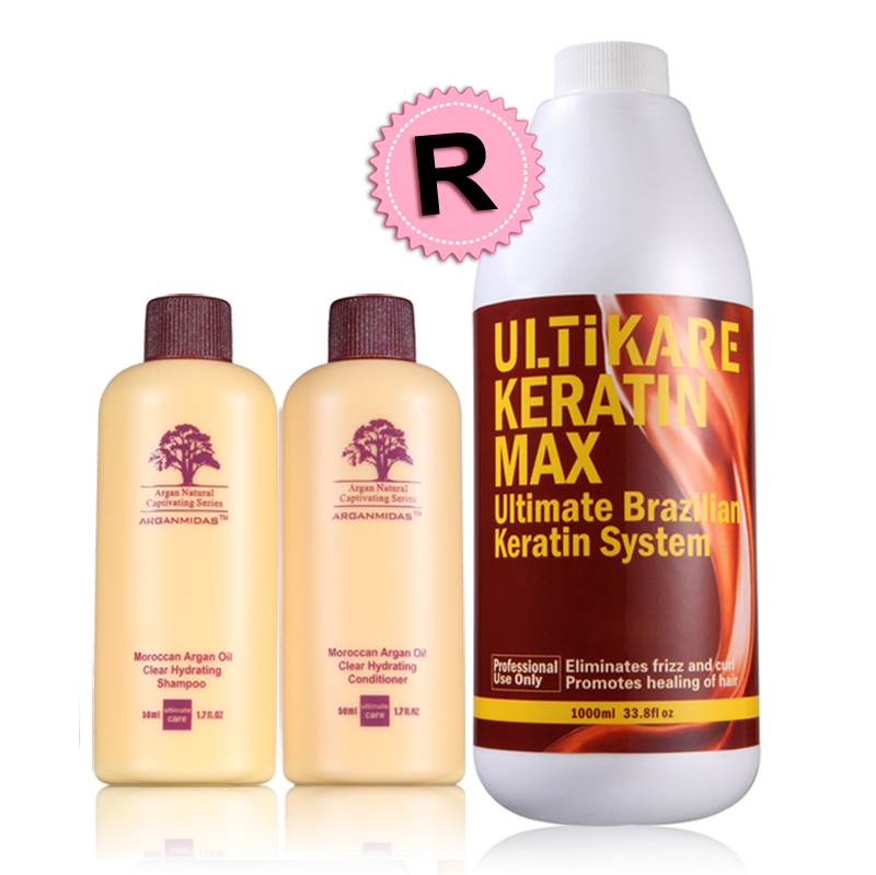 Uitikare Free Small Argan Hair Sets From 1000ml Brazilian Keratin Treatment 5% Make Hair Straight Smoothing Shiny Free Shipping