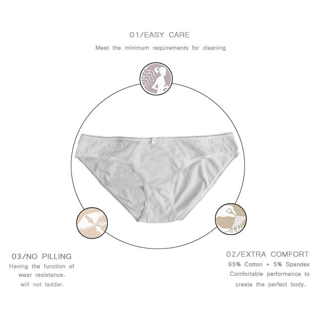 Cotton Underwear Womens Briefs Low-rise