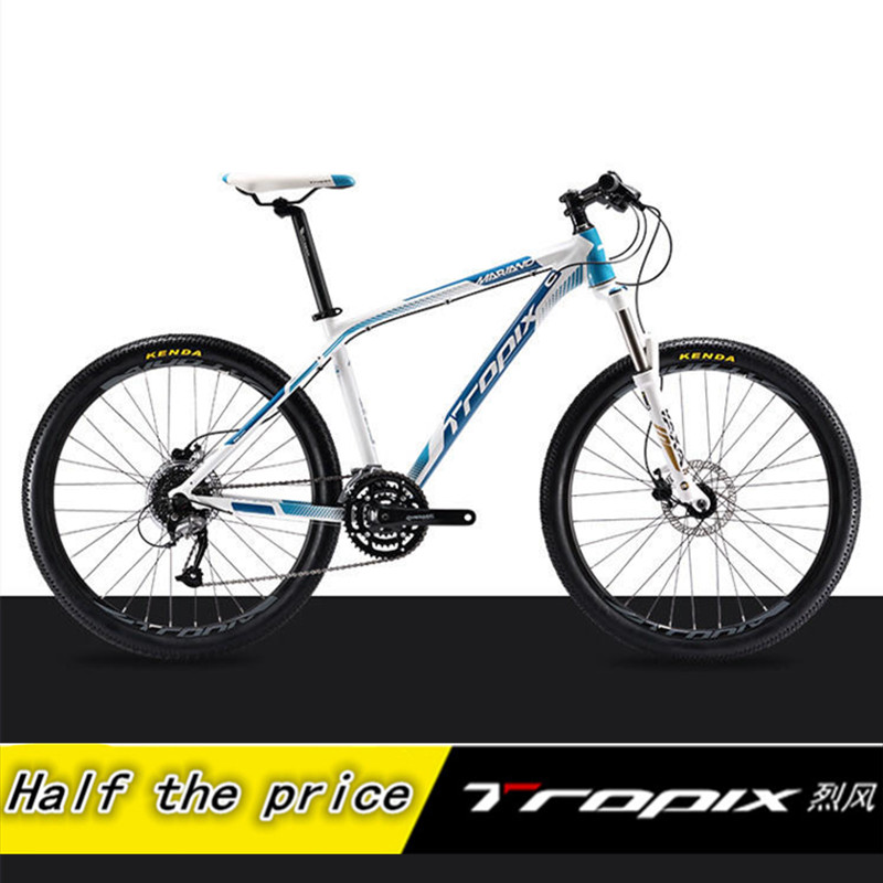 Mountain Bike TROPIX 27 Speed non- Folding Bike 26 inch *1.95 Unisex Bicycle 4 colors aluminium alloy Mountain Bicycle altruism k1 folding bike aluminium for kid s bicycle 7 speed 20 inch bicicleta mountain bike double disc brake downhill bike
