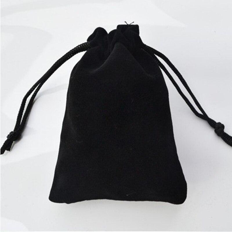 2019 Hot Free Shipping 7*9cm High-grade Black Velvet Bag Jewelry Bags / Jewelry Box Wholesale