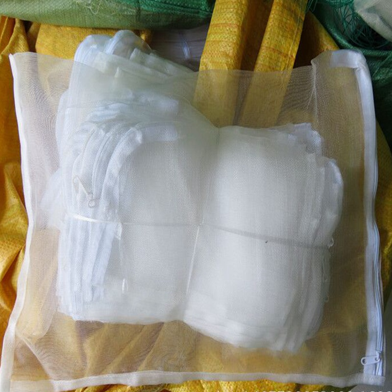 50pcs Different Size 40Mesh Insect Nylon Net Bag With Zipper Vegetable Fruit Protection Breeding Bag Pest