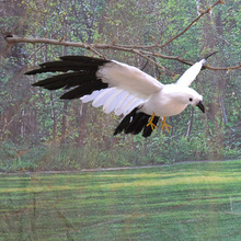 Black White Seagull Simulation Bird Feather Handmade Plastic Props Magic props Shooting Pendant Garden Decoration Juguetes