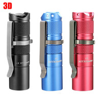 Astrolux S1 Waterproof 1600LM 7/4modes 3D Mini XPL LED light 18350 torch Flashlight+Clip+o rings+button+Gift Box