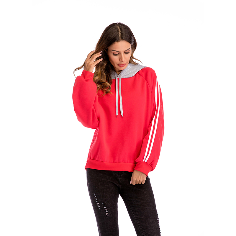 Spring 2019 Women kpop oversized hoodie sweatshirt Loose plus size Patchwork Long Sleeve Hoodies outwear Pullover Tops Blouse in Hoodies amp Sweatshirts from Women 39 s Clothing